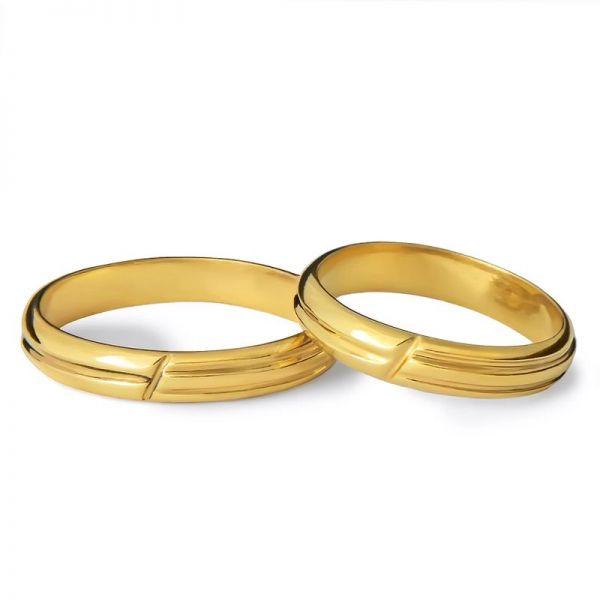 Snubní prsteny půlkulaté   šířka 3,50 mm