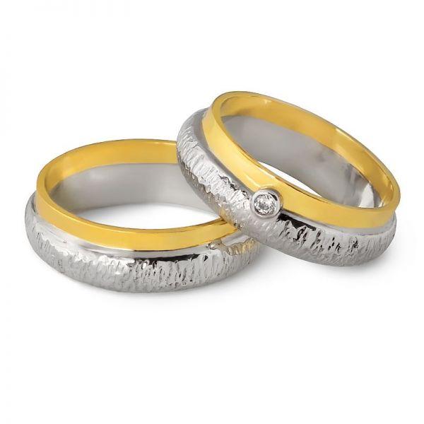 Snubní prsteny z kombinovaného zlata šířka 5,00 mm