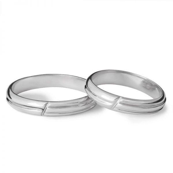 Snubní prsteny s drážkou šířka 3,5 mm