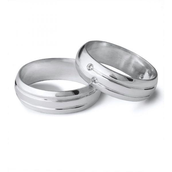 Moderní snubní prsteny s kamínky šířka 5,00 mm