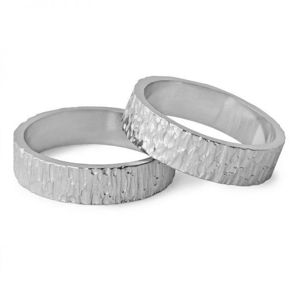 Snubní prsteny tepané šířka 5,00 mm