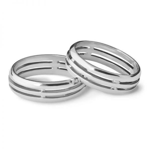 Snubní prsteny prořezávané šířka 5,00 mm
