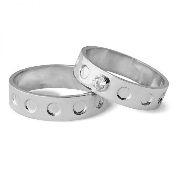 Snubní prsteny ploché šířka 5,00 mm