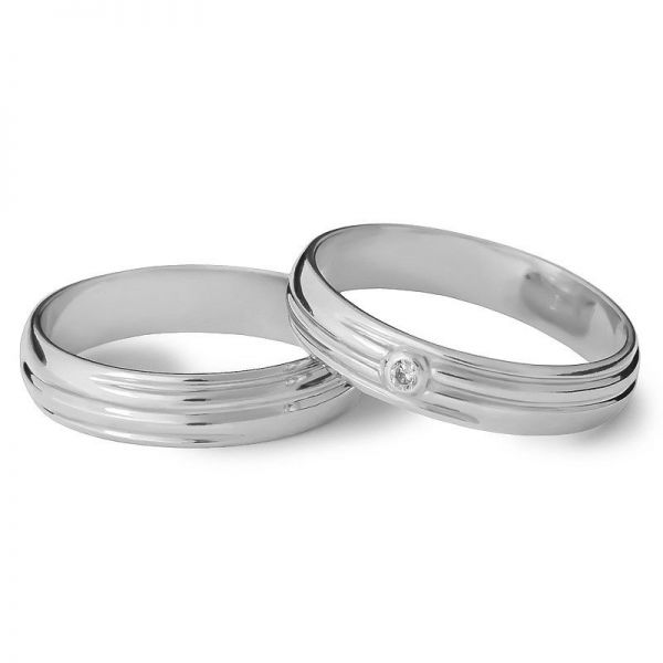 Snubní prsteny půlkulaté s kamínkem 3,5 mm