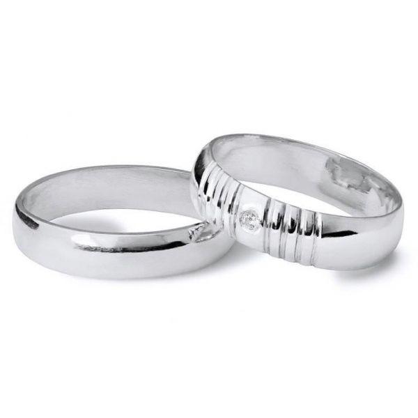 Snubní prsteny půlkulaté šířka 5,00 mm