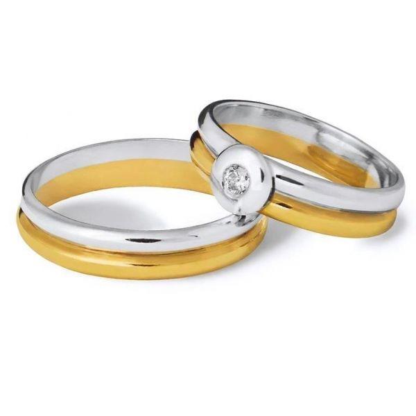 Snubní prsteny kombinované zlata šířka 4mm