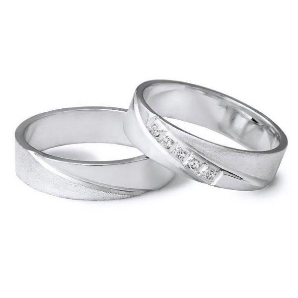 Snubní prsteny elegantní styl šíře 5mm