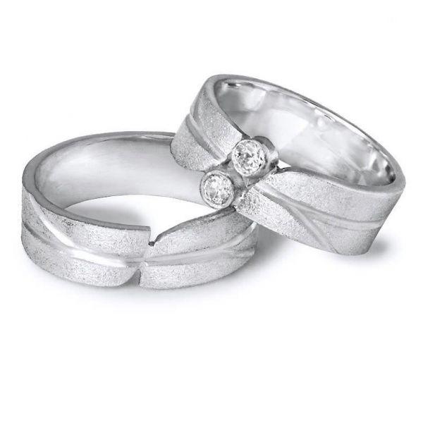 Snubní prsteny originální s kameny šíře 7,00 mm