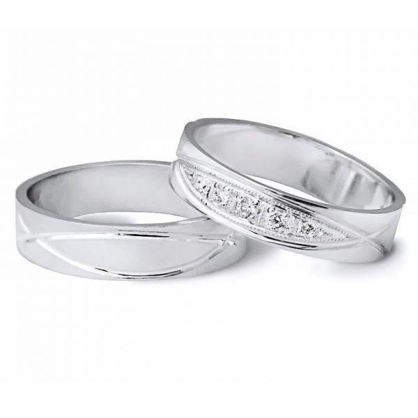 Originální snubní prsteny s kameny 5mm