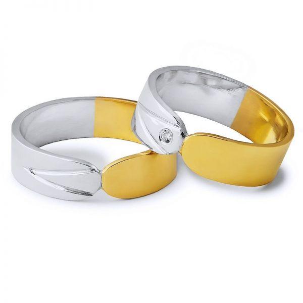 Snubní prsteny kombinované zlata šířka 6mm