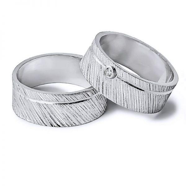 Snubní prsteny s kamenem šířka 7,00 mm
