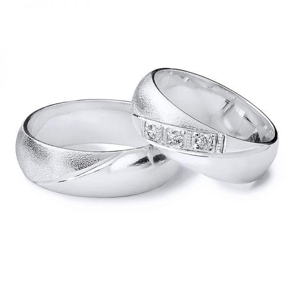 Snubní prsteny půlkulaté elegantní styl šíře 5mm